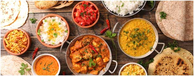 What are the Various types of Food served in an Indian Restaurant in Somerville?